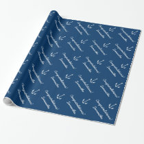 Nautical personalised wrapping paper