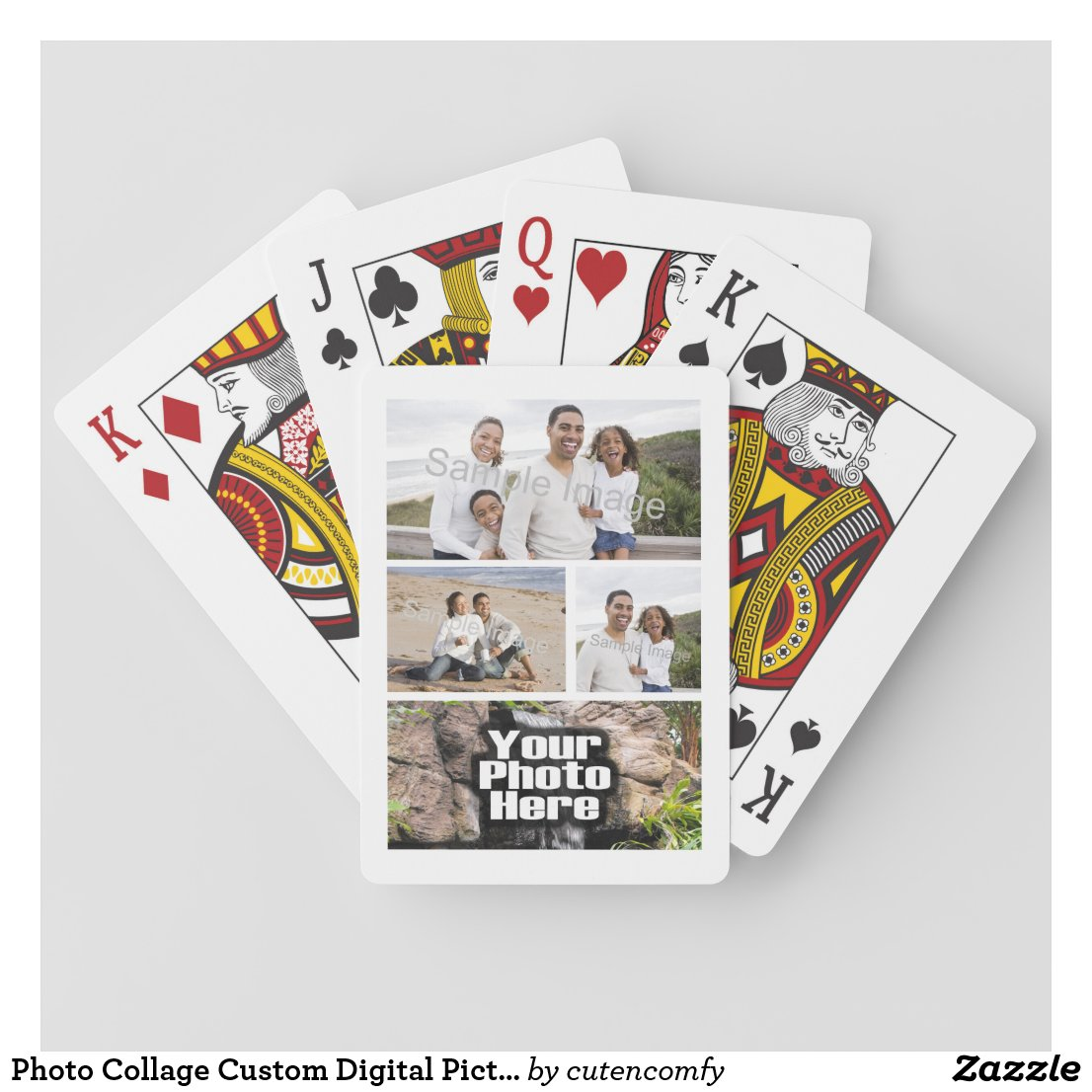 Photo Collage Playing Cards