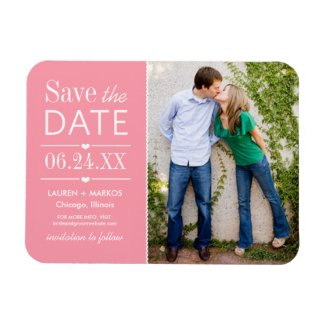 Photo Save the Date | Light Pink Magnet
