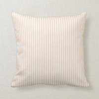Pink Blush Striped Pillows