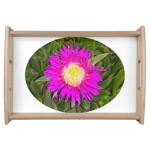 Pink Flower Serving Tray by IreneDesign2011