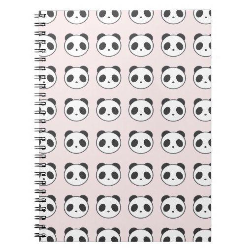 Pink Panda Pattern Notebook