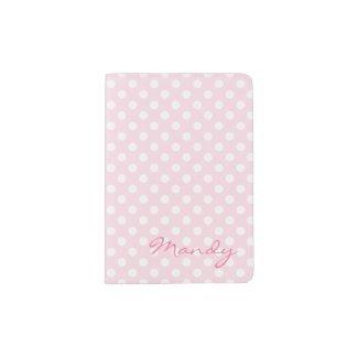 Pink polka dot passport holder