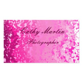 Pink white/pink design business cards