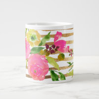 PixDezines floral/watercolor/ranunculus Giant Coffee Mug