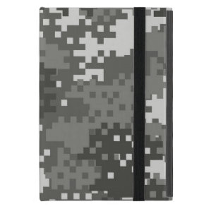 Pixel Grey & White Urban Camouflage iPad Mini Cover