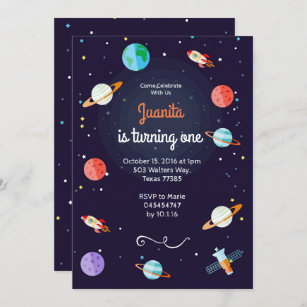 space birthday invitations zazzle uk