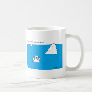 Polar bear chemistry joke coffee mug