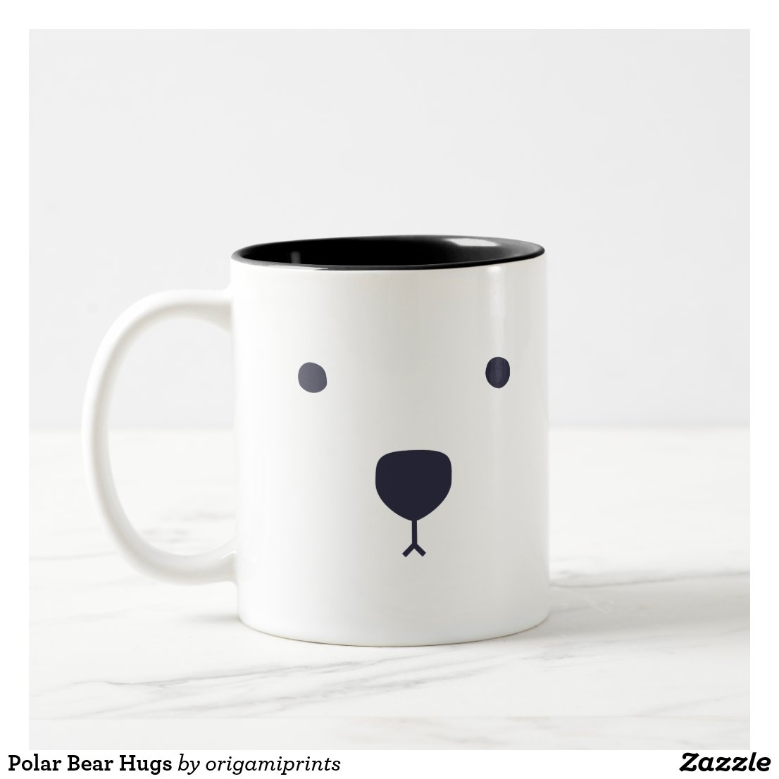 Polar Bear Hugs Two-Tone Coffee Mug