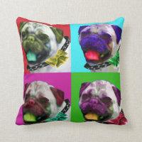 Pop Art Pug Throw Pillow 16