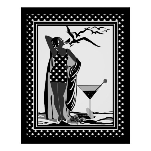 Black And White Art Deco Posters