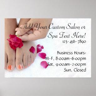 nail salon posters prints zazzle uk
