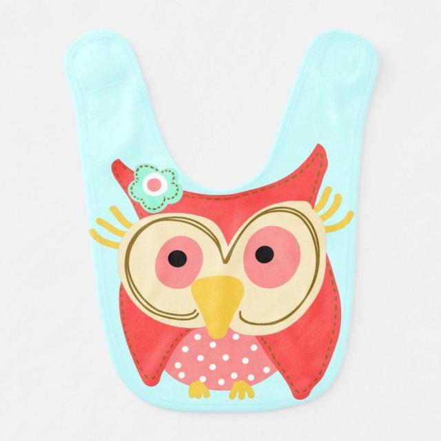 Pretty Owl Bib