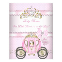 Princess Pretty Baby Shower Cute Girl Carriage Card