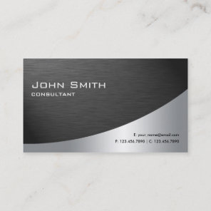 Professional Metal Elegant Modern Plain Black Business Card