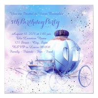 Purple Fairy Tale Princess Birthday Party Card