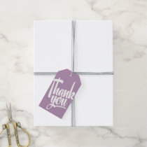 Purple Hand Lettering Calligraphy Thank You Tag Pack Of Gift Tags