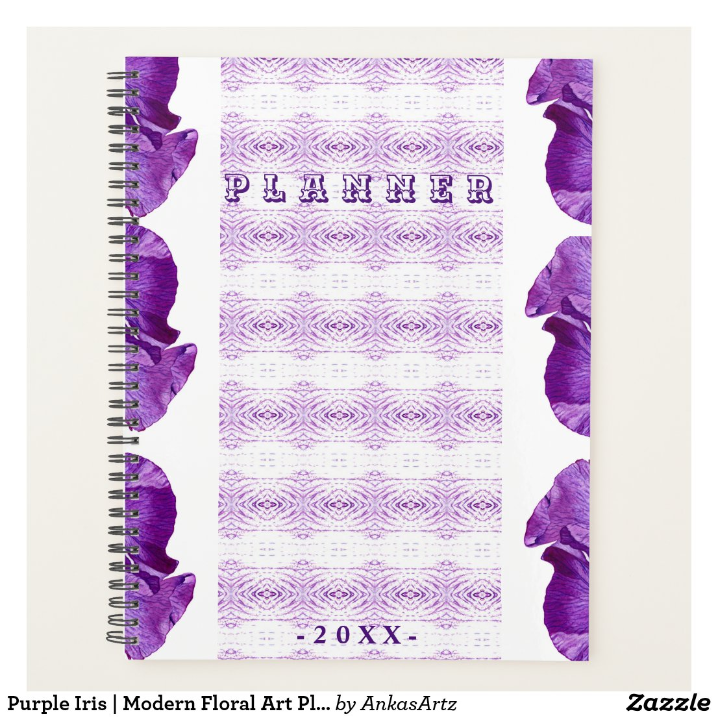 Purple Iris | Modern Floral Art Planner