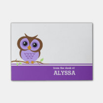 Purple Owl Personalized Post-it® Notes