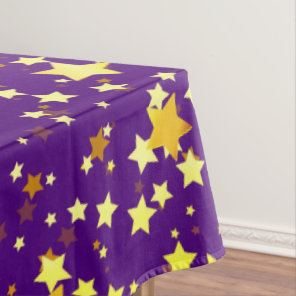 Purple Starry Christmas Tablecloth