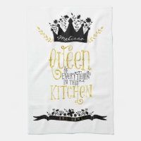 Queen of the Kitchen Tea Towel