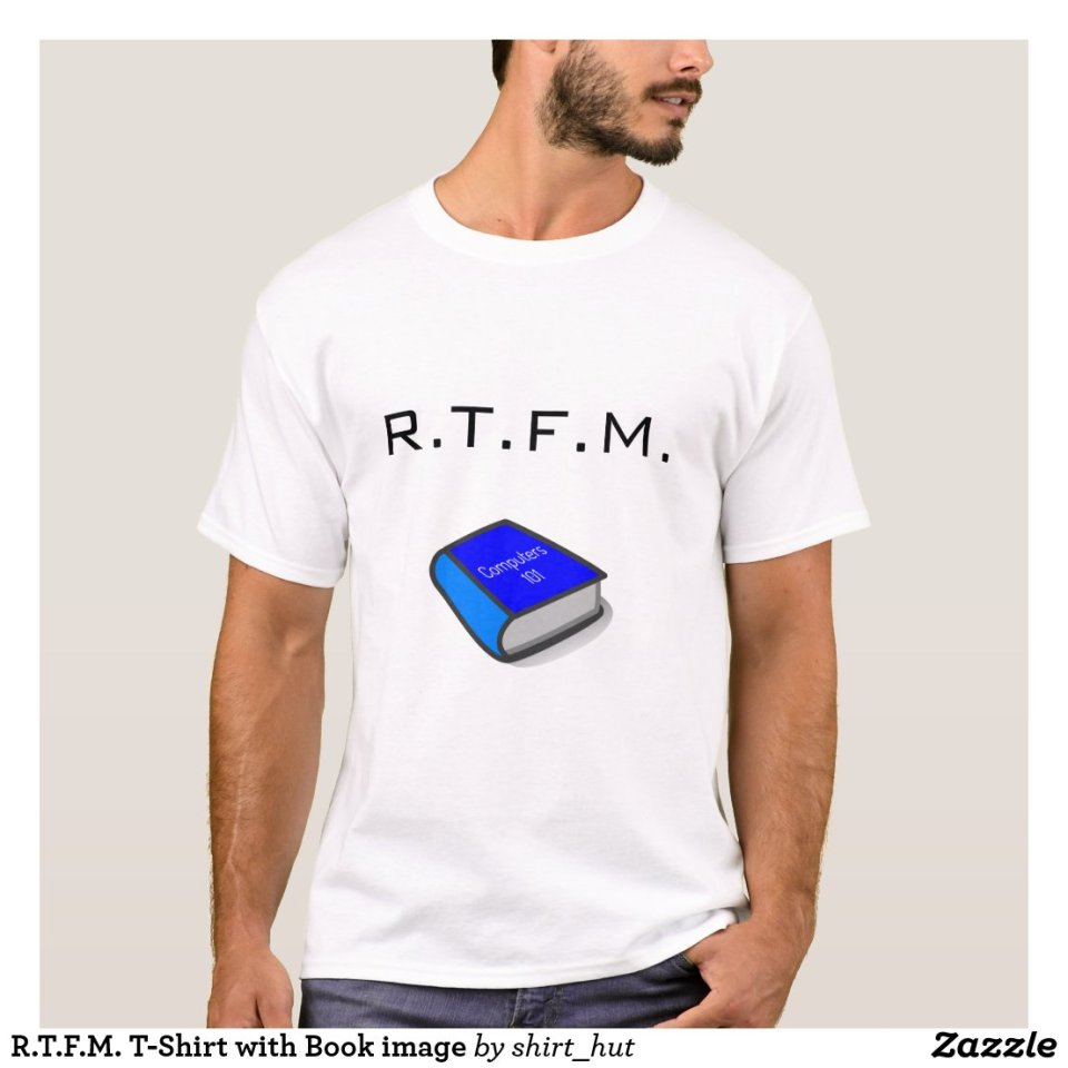 R.T.F.M. T-Shirt with Book image