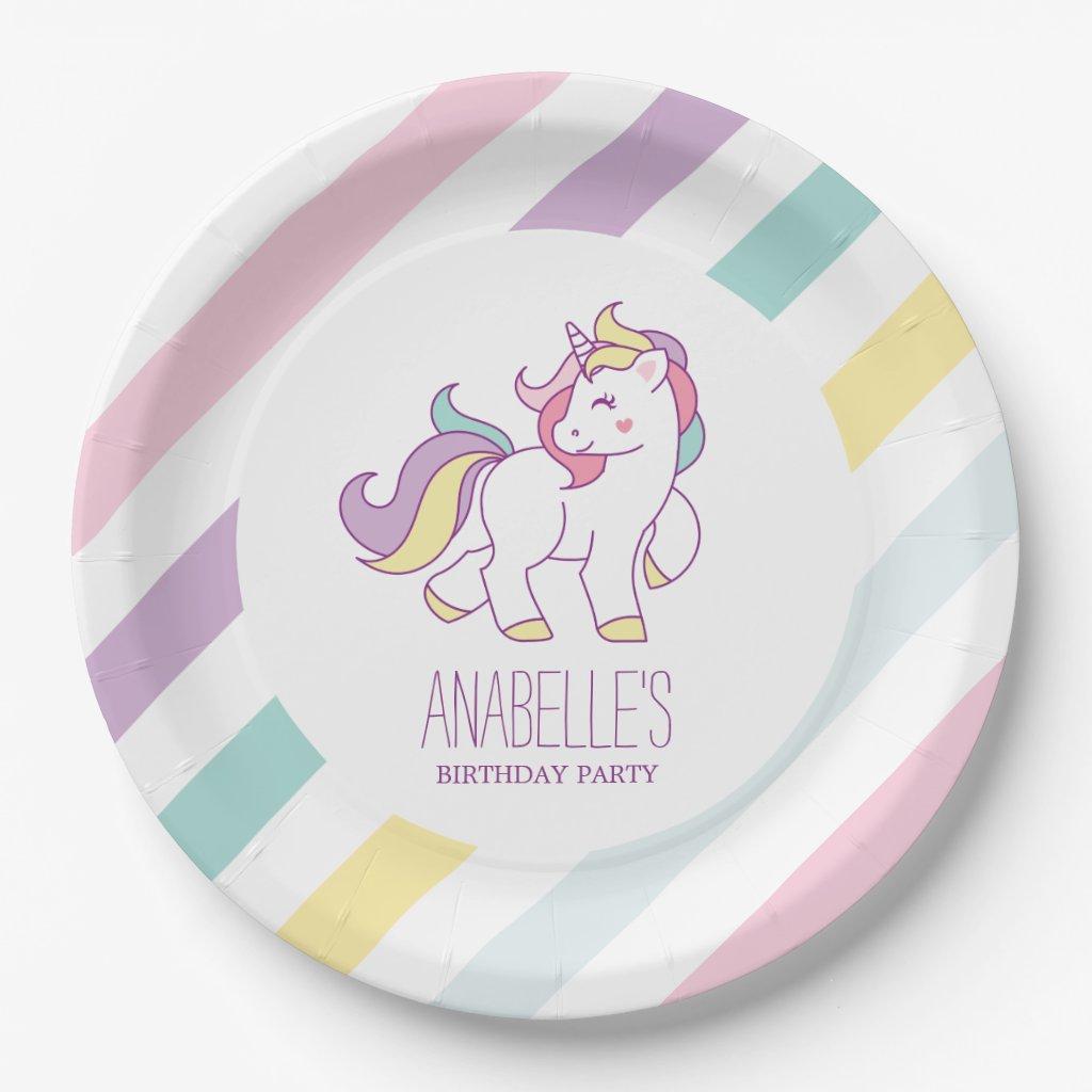 Rainbow Unicorn Girls Birthday Party