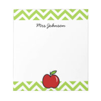 Red apple notepad for teacher