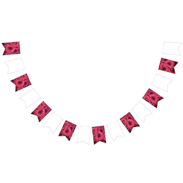 Red Rose Wedding/Party Bunting