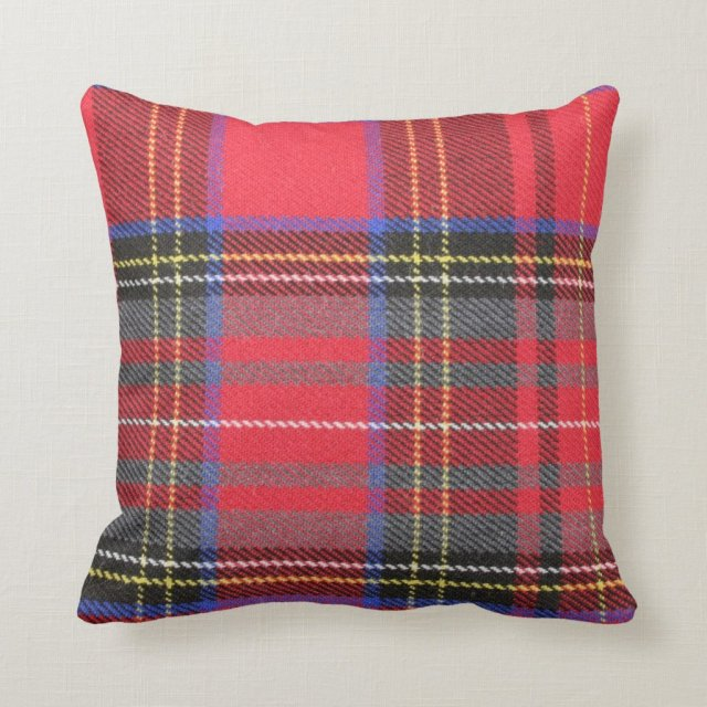 Red Tartan Plaid Throw Pillow