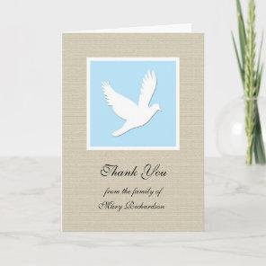 Religious Sympathy Thank You Card - Dove