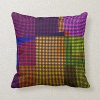 Retro Colorful Polka Dots Pop Art Pillow