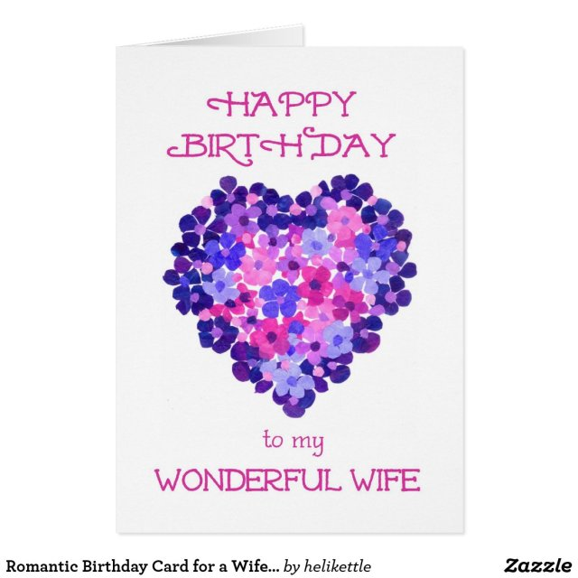 Romantic Birthday Card for a Wife - Flower Power