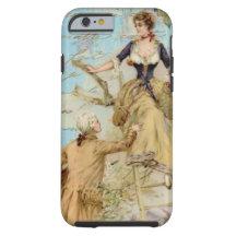Romantic Paris Lovers Shabbychic blue iPhone 5 Cases