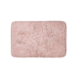 Rose Gold Blush Pink Crystal Glass Luxury Pink Bath Mat