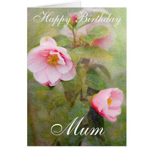 ROSES HAPPY BIRTHDAY MUM GREETING CARD