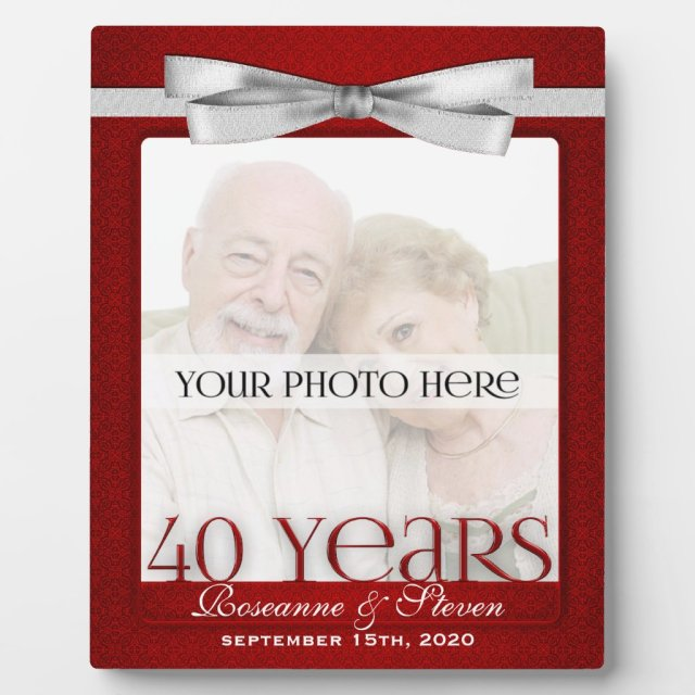 Ruby 40th Wedding Anniversary Photo Frame
