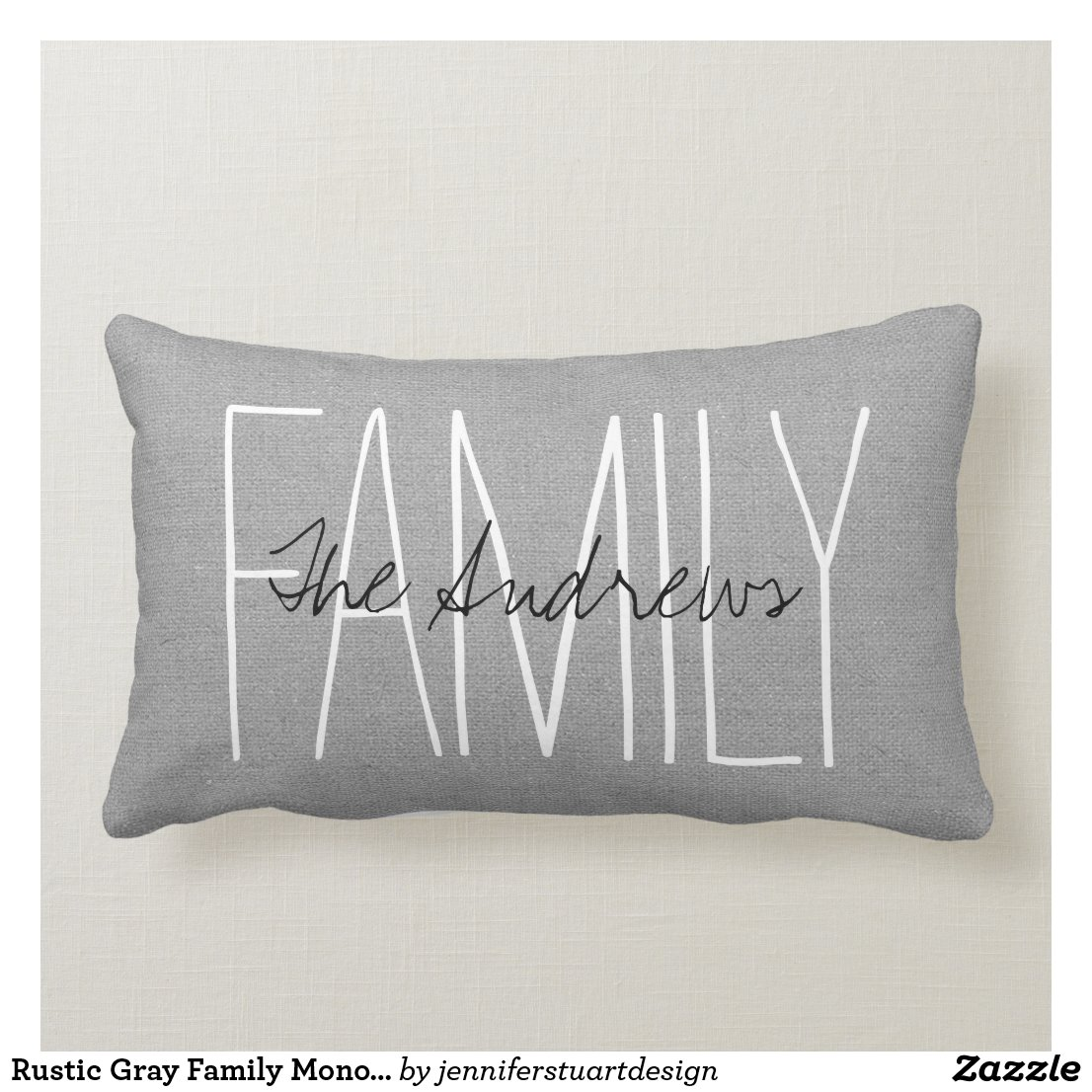 Rustic Grey Family Monogram