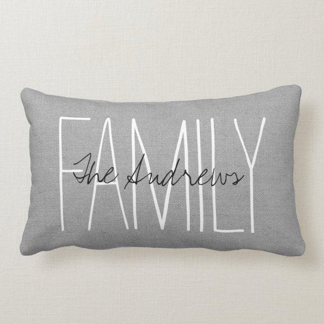 Rustic Grey Family Monogram