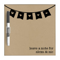 Rustic Kraft Heart Bunting Roommates Message Board