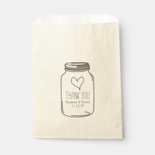 Mason Jar Favour Bags