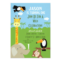 Safari Animal Birthday Party Invitation