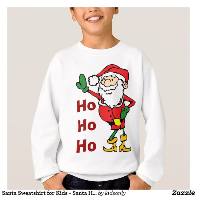 Santa Sweatshirt for Kids - Santa Ho-Ho-Ho