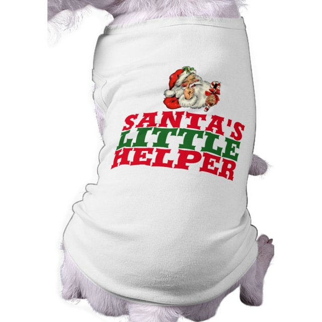 Santa's little helper Christmas dog shirt