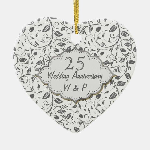 Silver leaves 25th Wedding Anniversary