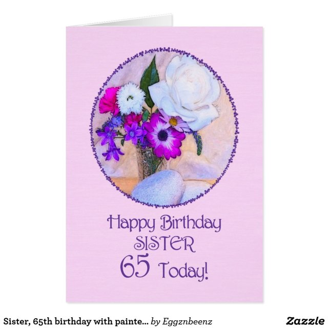 Sister, 65th birthday card