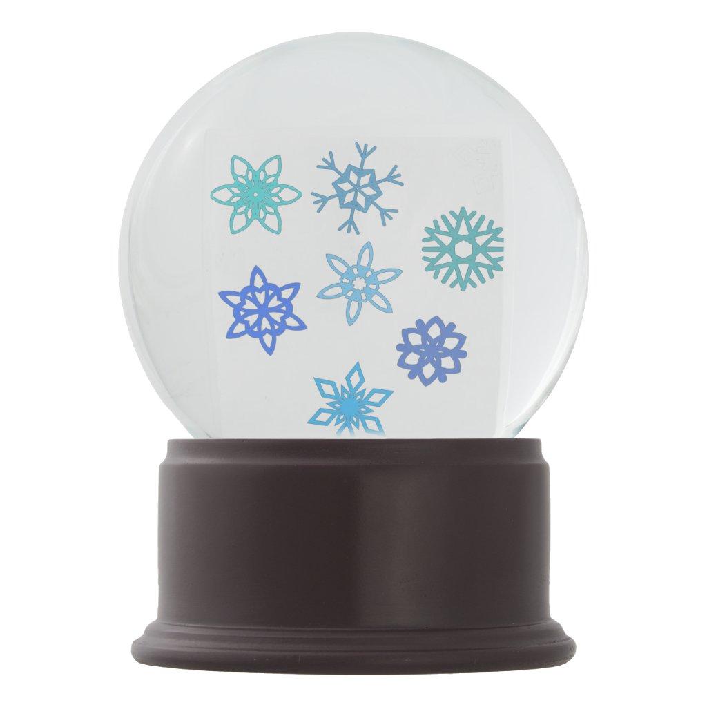 Snowflake Themed Snowglobe