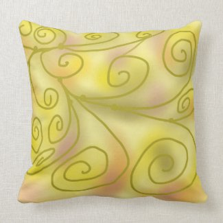 Soft pastel cushion