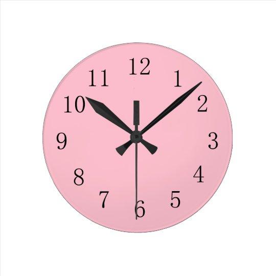 Soft Pink Kitchen Wall Clock Zazzle Co Uk