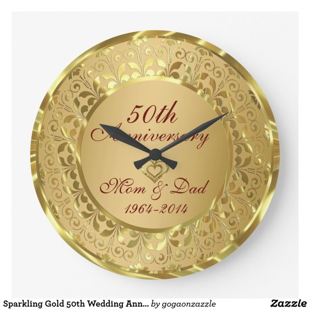 50th Wedding Anniversary Clock
